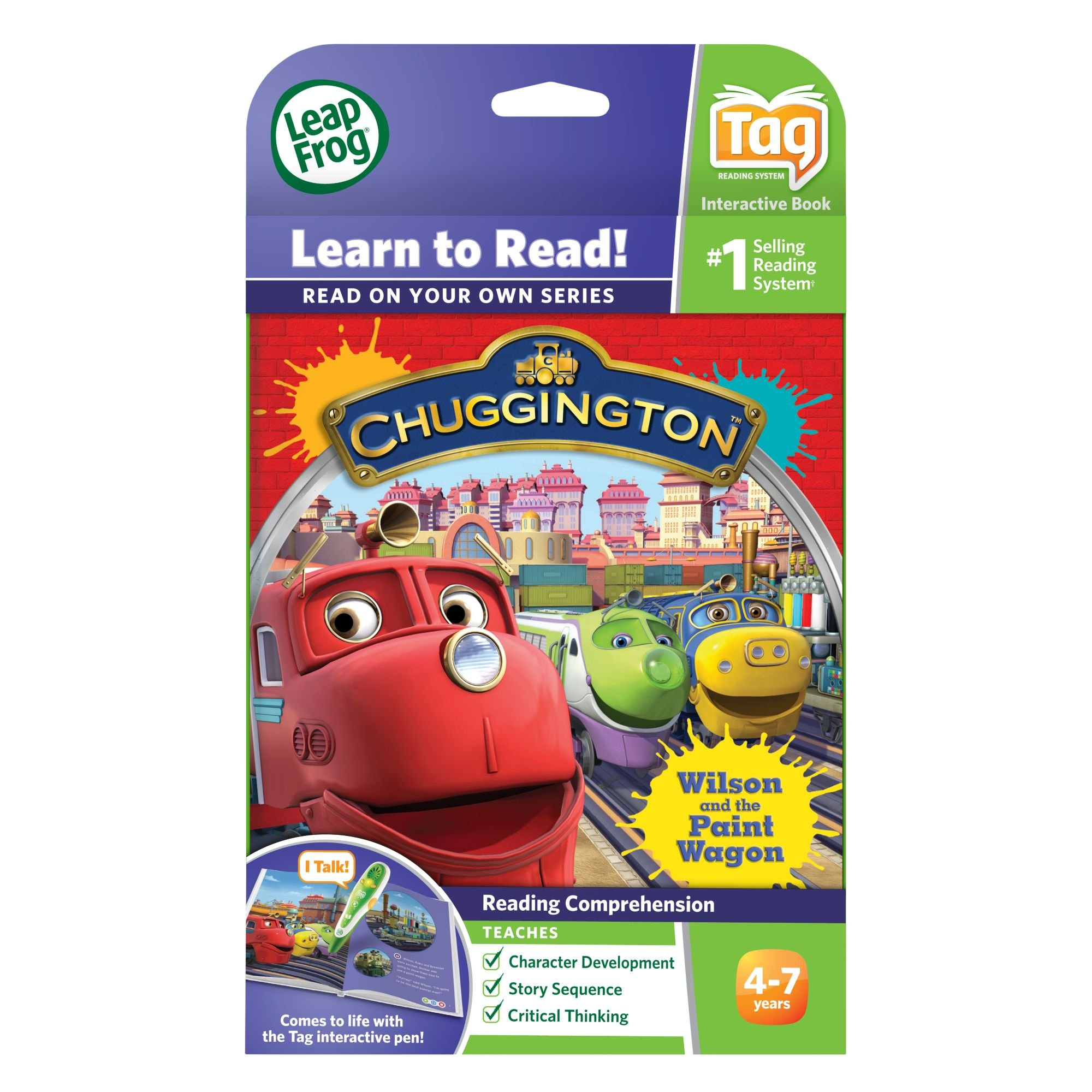 LeapFrog LeapReader Book: Chuggington: Wilson and the Paint Wagon (works with Tag) by LeapFrog (Image #4)