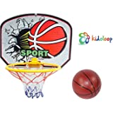 Basketball Board Hoop Kids Basketball with Net and Ball Outdoor IndoorAdjustable Sport Game Play Set for 3 Years Old and up Toddler Baby Sports Outdoor Sport Fun Toys Activities Basketball Board Sports Equipment Training