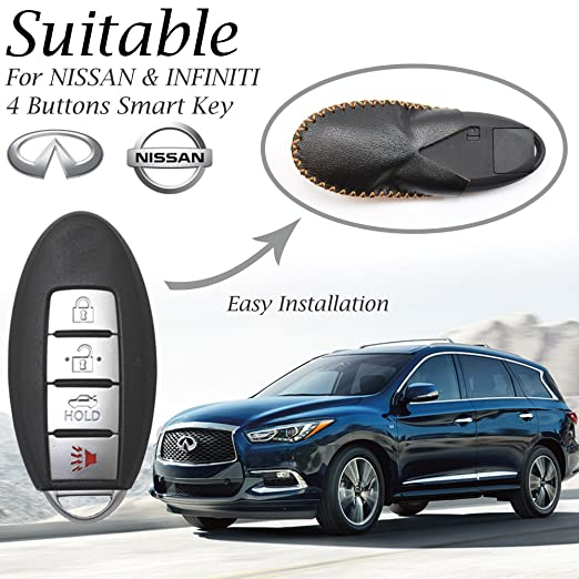 Amazon Com Vitodeco Nissan Infiniti Leather Keyless Entry Remote