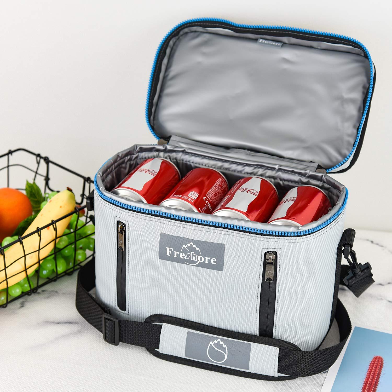 plegable bolsa de viaje grande port/átil con aislamiento plegable refrigerador bolsa t/érmica gris plata preparaci/ón de la comida Big Lunch Box mochila Picnic del totalizador