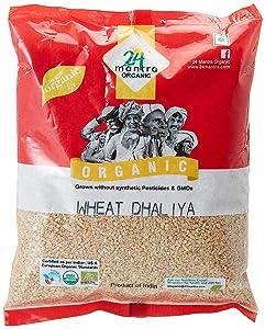 Organic Wheat Dalia (Wheat Porridge) 2 Pound, USDA Certified Organic, No Pesticides and No Additives - 24 Mantra Organics