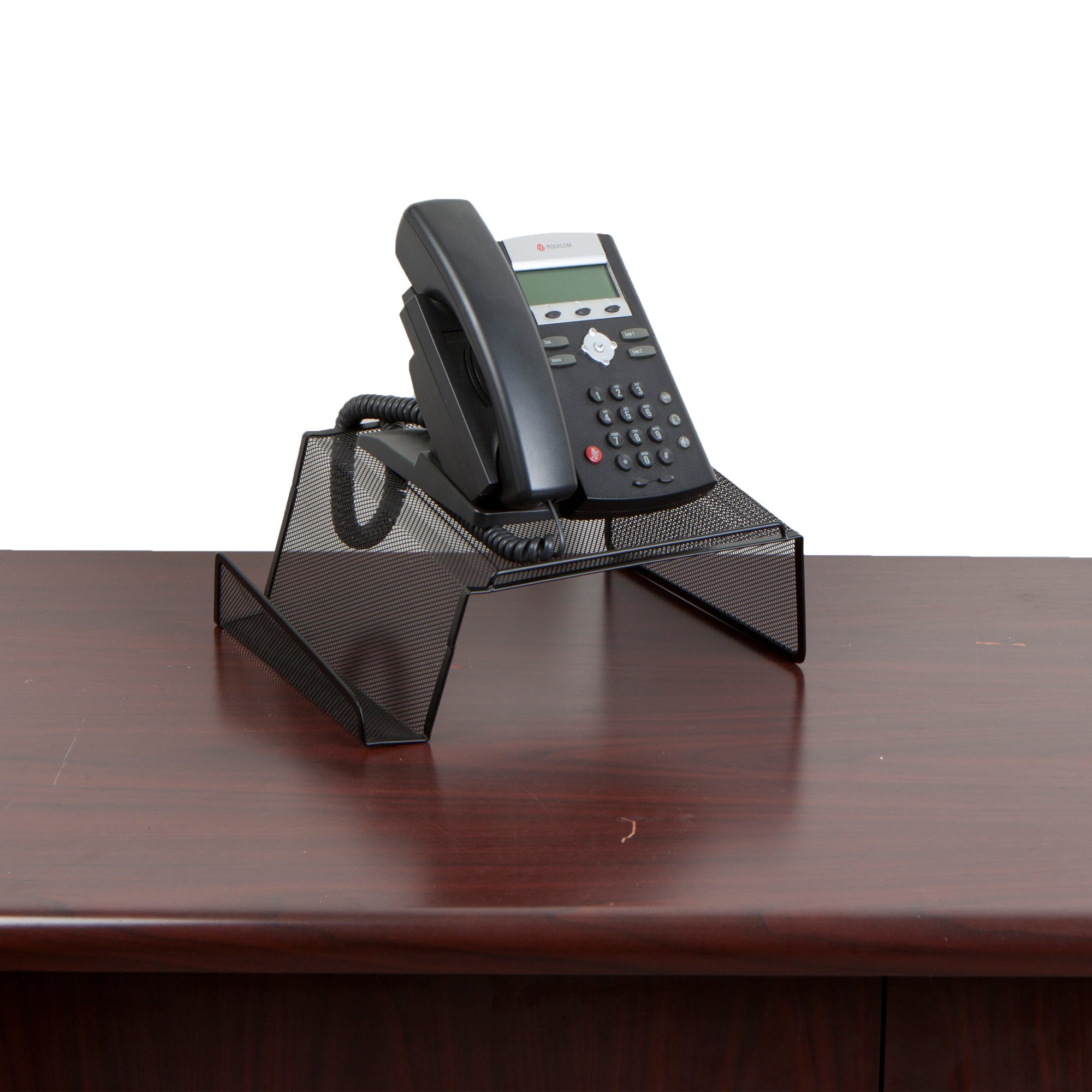 Mind Reader Metal Desktop Phone Stand, 2 Pack, Black by Mind Reader (Image #3)