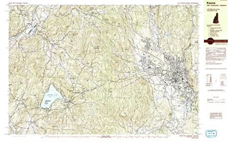 Amazon.com : YellowMaps Keene NH topo map, 1:25000 Scale, 7.5 X 15 on