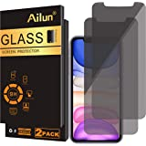 Ailun Privacy Screen Protector Compatible for iPhone 11/iPhone XR 6.1Inch 2 Pack Japanese Glass Anti Spy Case Friendly Temper