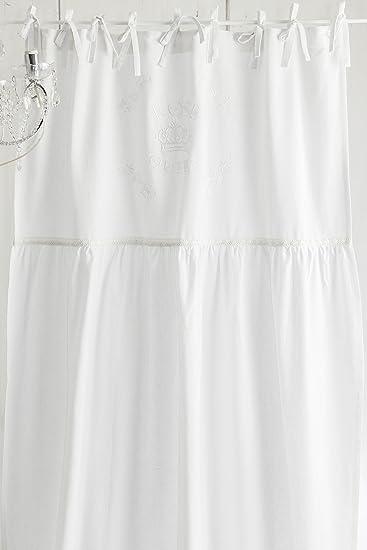 Rose Queen weiss bestickt Vorhang / Gardine 1x(100x50cm+150cmx200cm ...