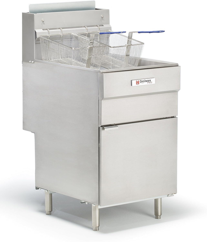 Grindmaster-Cecilware FMS705NAT Natural Gas Floor Fryer, 70-Pound