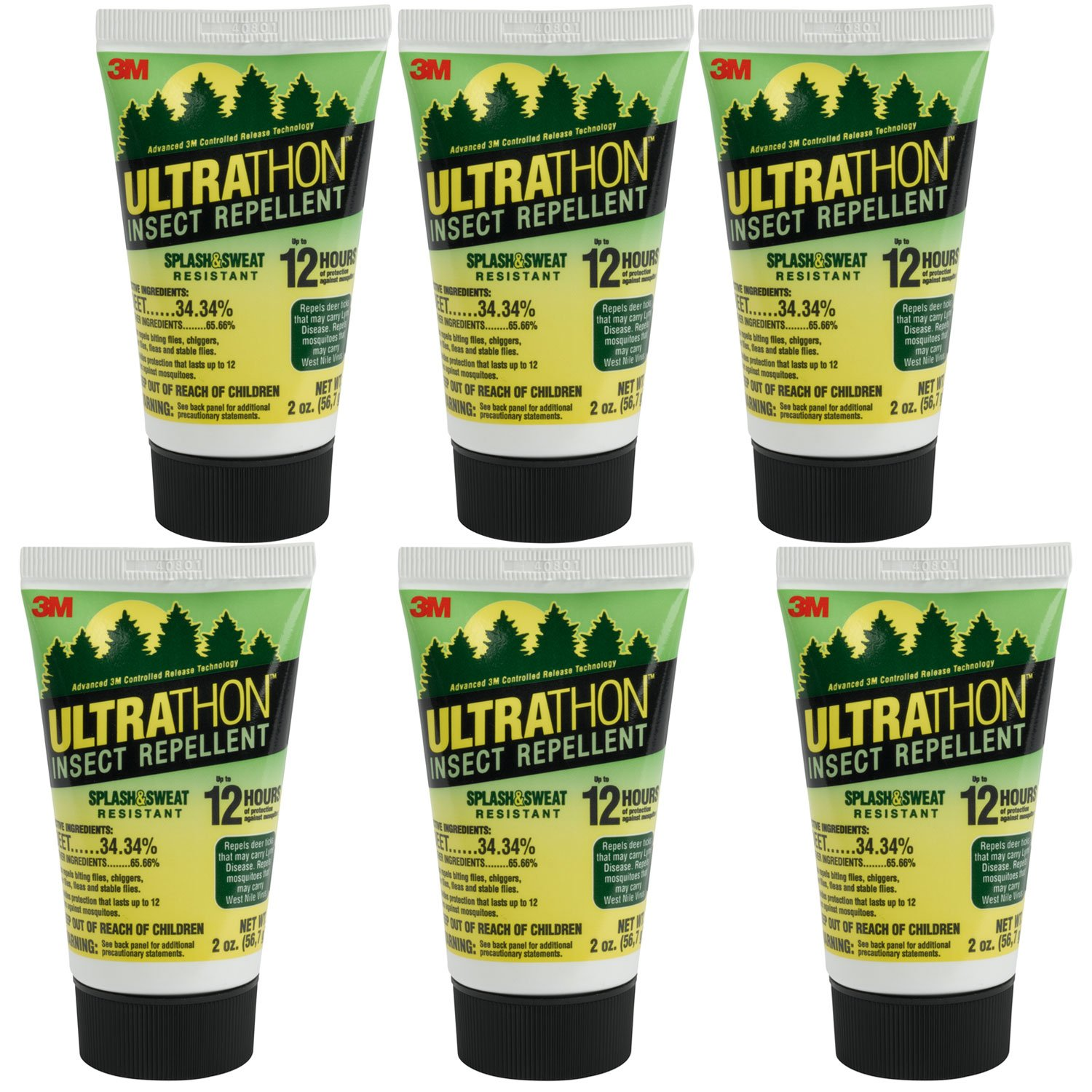3M Ultrathon Insect Repellent Lotion, 2-Ounce (6-Tubes)