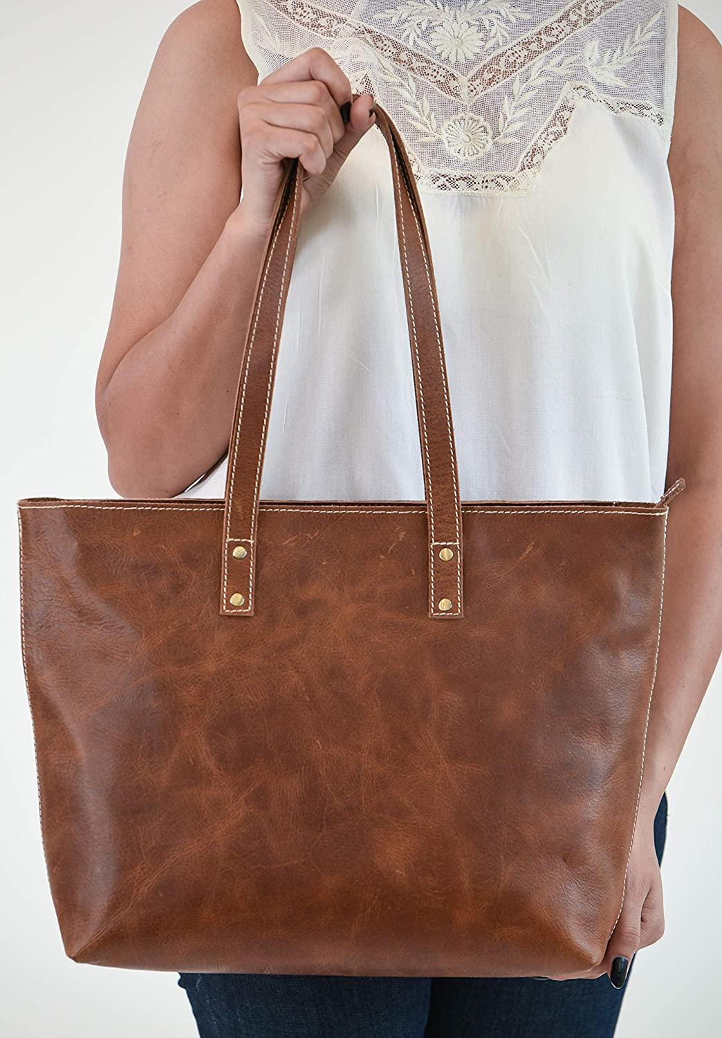 New Vintage Women leather handbags solid Woven Tote fashion zipper shoulder bags