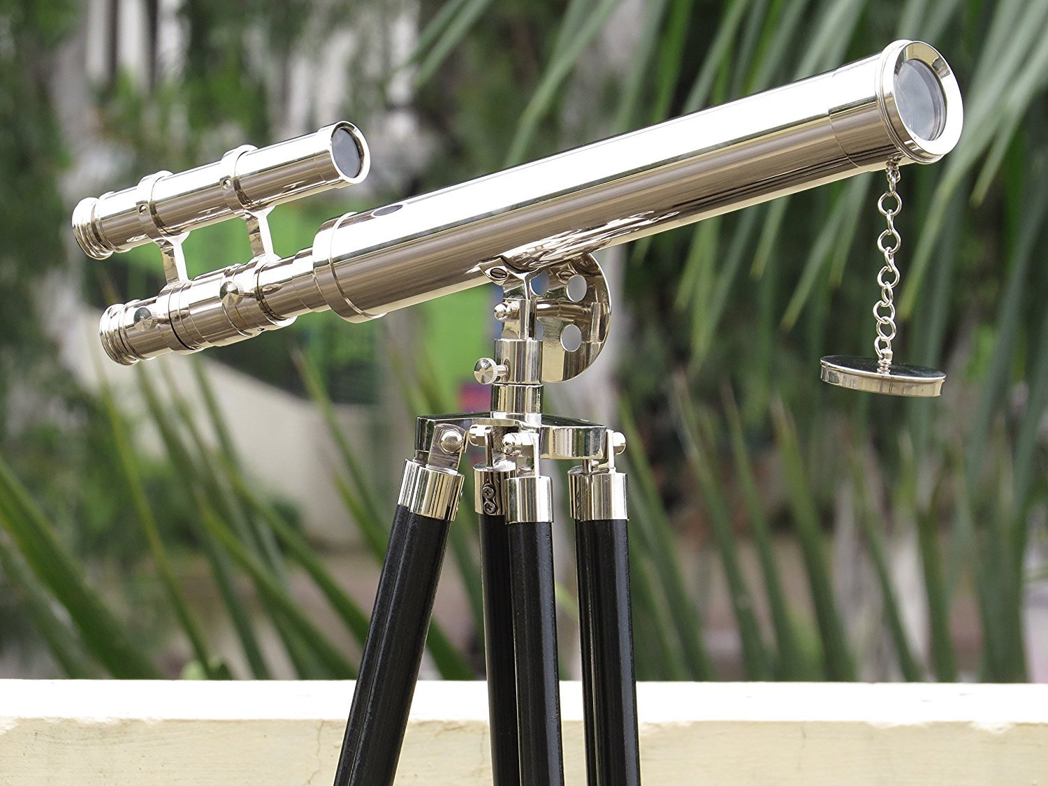 Nauticalmart Floor Standing Chrome Griffith Astro Telescope 18'' with Tripod Stand with 45''Base