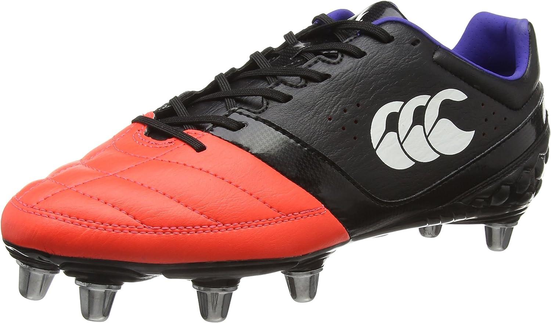 Canterbury Phoenix Club 8 Stud, Botas de Rugby para Hombre, Negro 98a Black Firecracker, 42 EU: Amazon.es: Zapatos y complementos