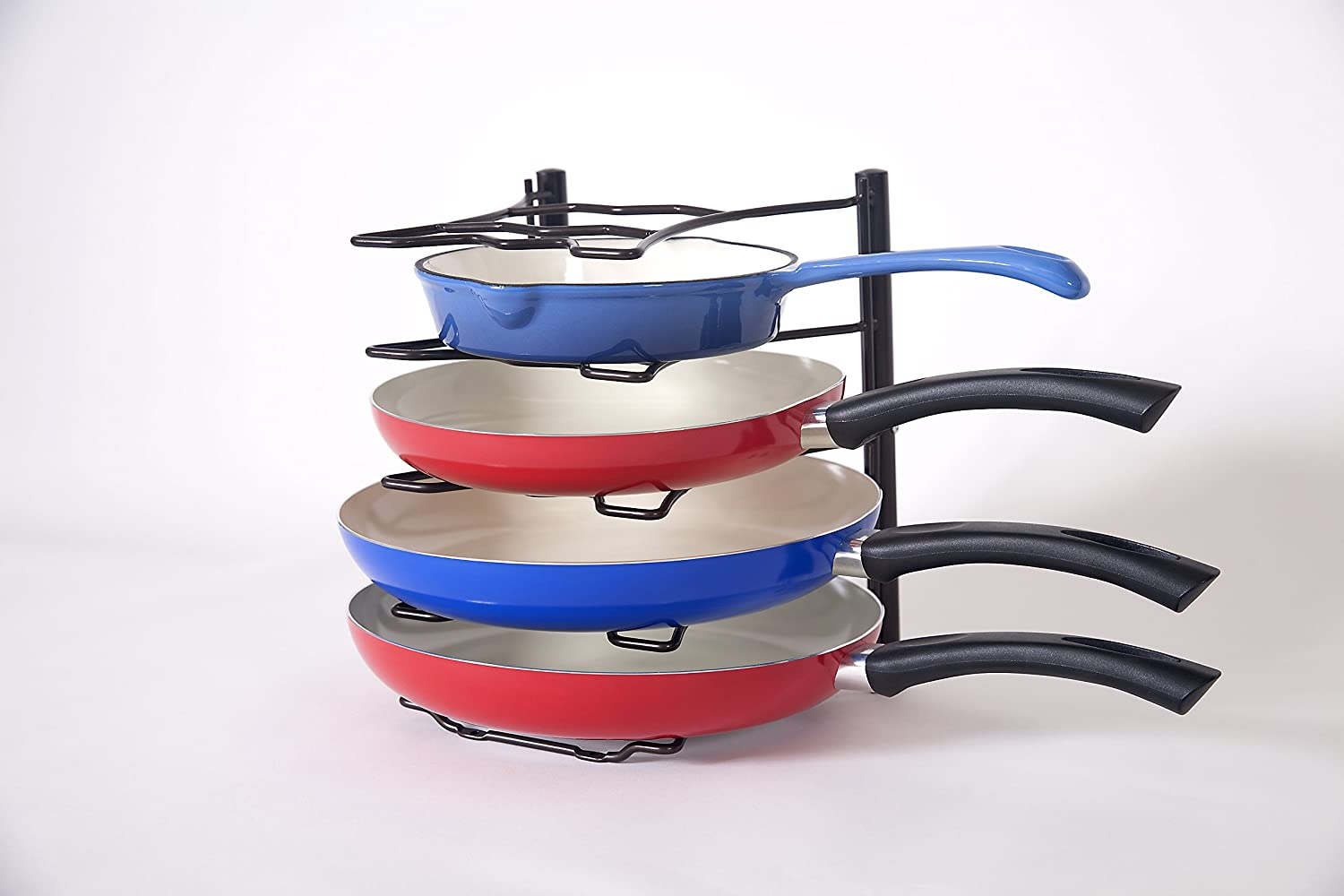 bahoki Essentials cacerola organizador, estante Rack, Rack de Pot, Pot Holder Almacena hasta 5 sartenes la perfecta cocina rack, bronce: Amazon.es: Hogar
