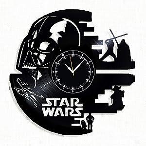 Star Wars Vinyl Clock - Star Wars Wall Clock - Best Gift Fans Star Wars - Original Wall Home Decor