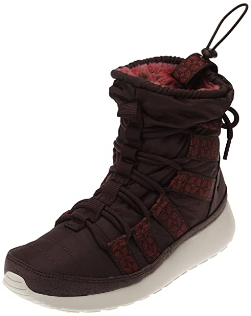 566489e51252 ... inexpensive nike womens rosherun hi sneakerboot deep burgundy team red  lght bn boot 7 women 44305
