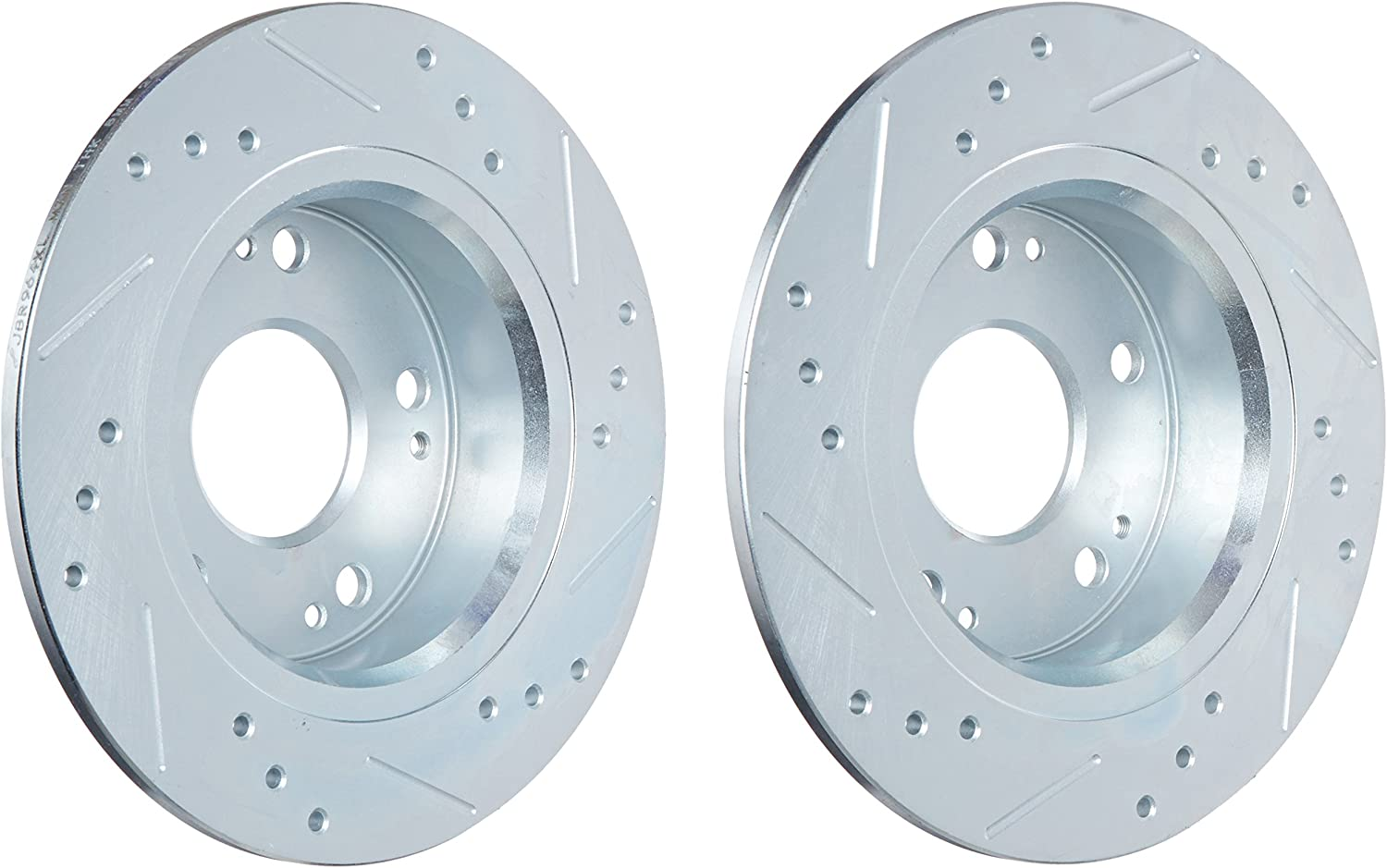 Power Stop JBR964XPR Rear Evolution Drilled /& Slotted Rotor Pair
