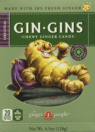 Gin Gins, Chewy Ginger Candy for Nausea Relief