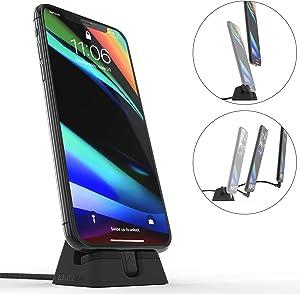 ElevationLab Cord Dock V2 - Hybrid iPhone Lightning Charging Dock & Cable, Adjustable Phone Stand Holder, Desktop Docking Station Cradle, Charge Stand, MFi Certified