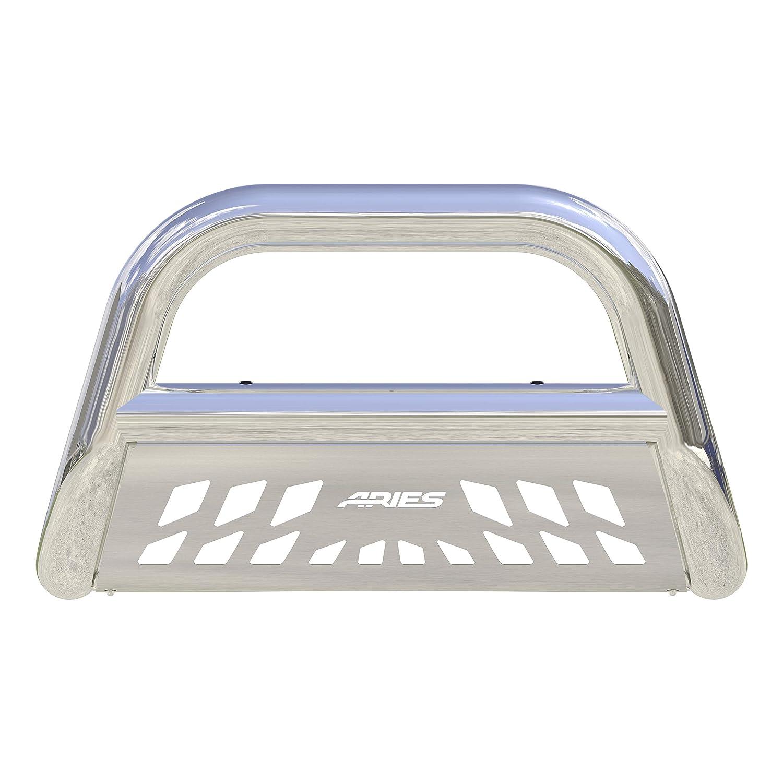 GMC Sierra 2500 3500 HD ARIES 45-4013 Big Horn 4-Inch Polished Stainless Steel Bull Bar Select Chevrolet Silverado