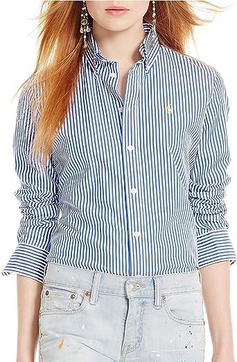 Polo Ralph Lauren Mujer personalizado & # x2011; Fit Rayas Camisa ...