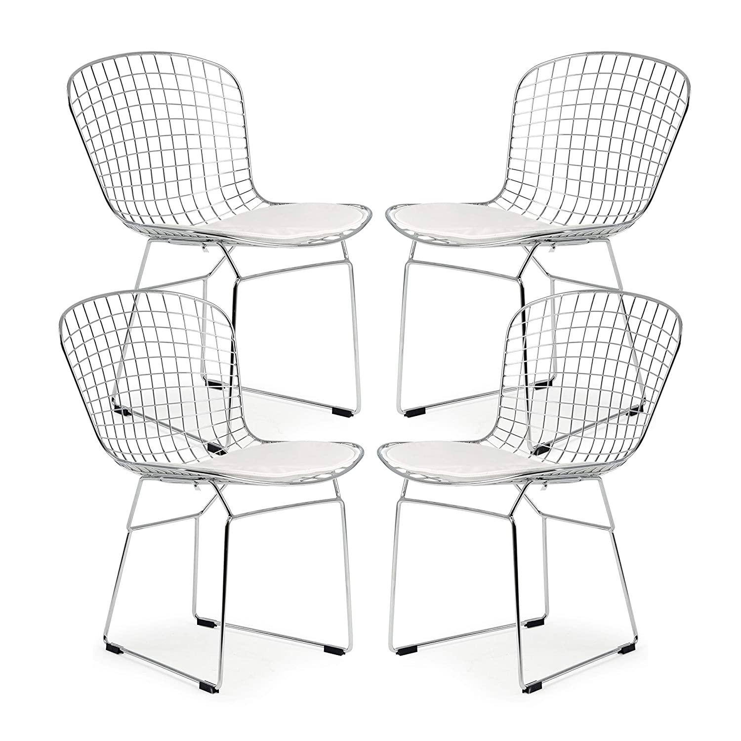 Poly and Bark Morph Side Chair in White Set of 4