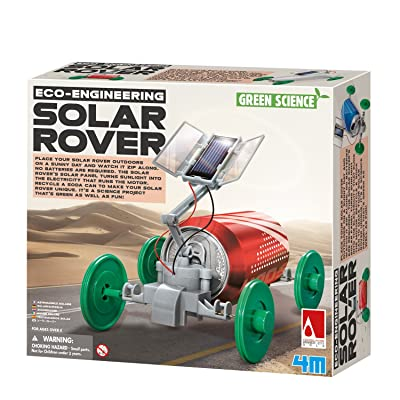 4M 3782 Green Science Solar Rover Kit DIY Solar Power, Eco-Engineering Stem Toys Educational Gift for Kids & Teens, Boys & Girls: Toys & Games
