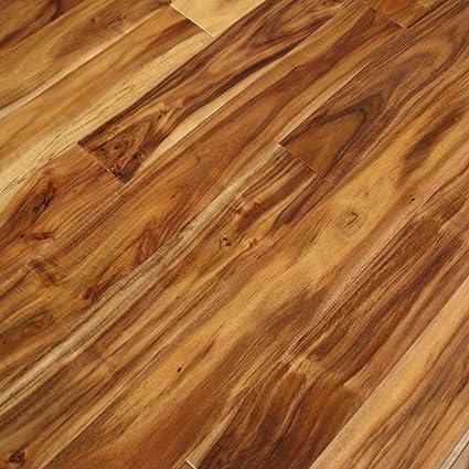 Acacia Natural Hand Scraped Sample Solid Hardwood Floor Aluminum