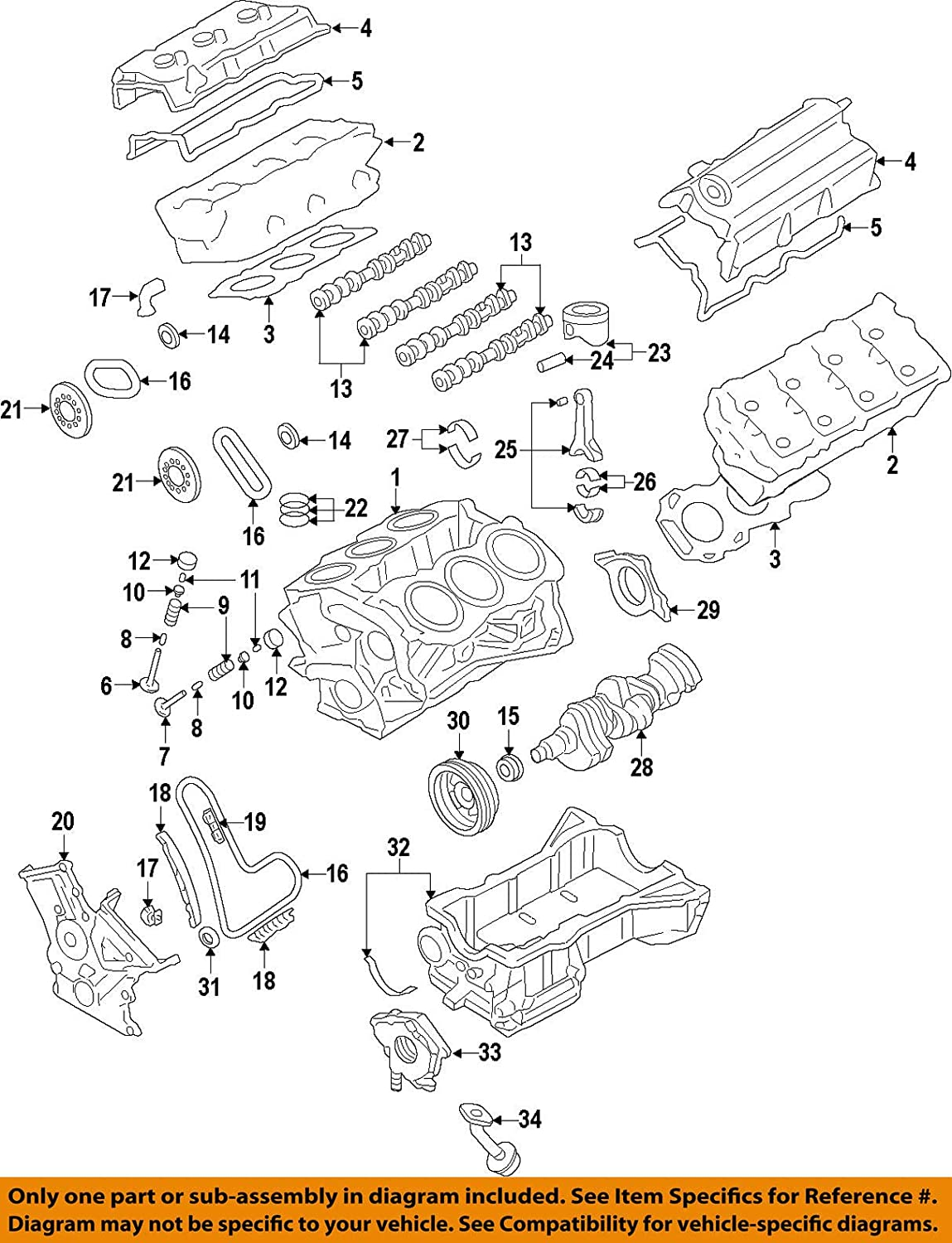 Ford 7T4Z-6K254-BA Engine Timing Chain Tensioner