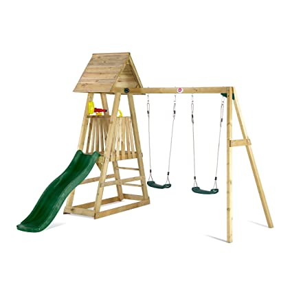 Buy Plum® Indri® Wooden Climbing Frame Outdoor Play Centre with ...