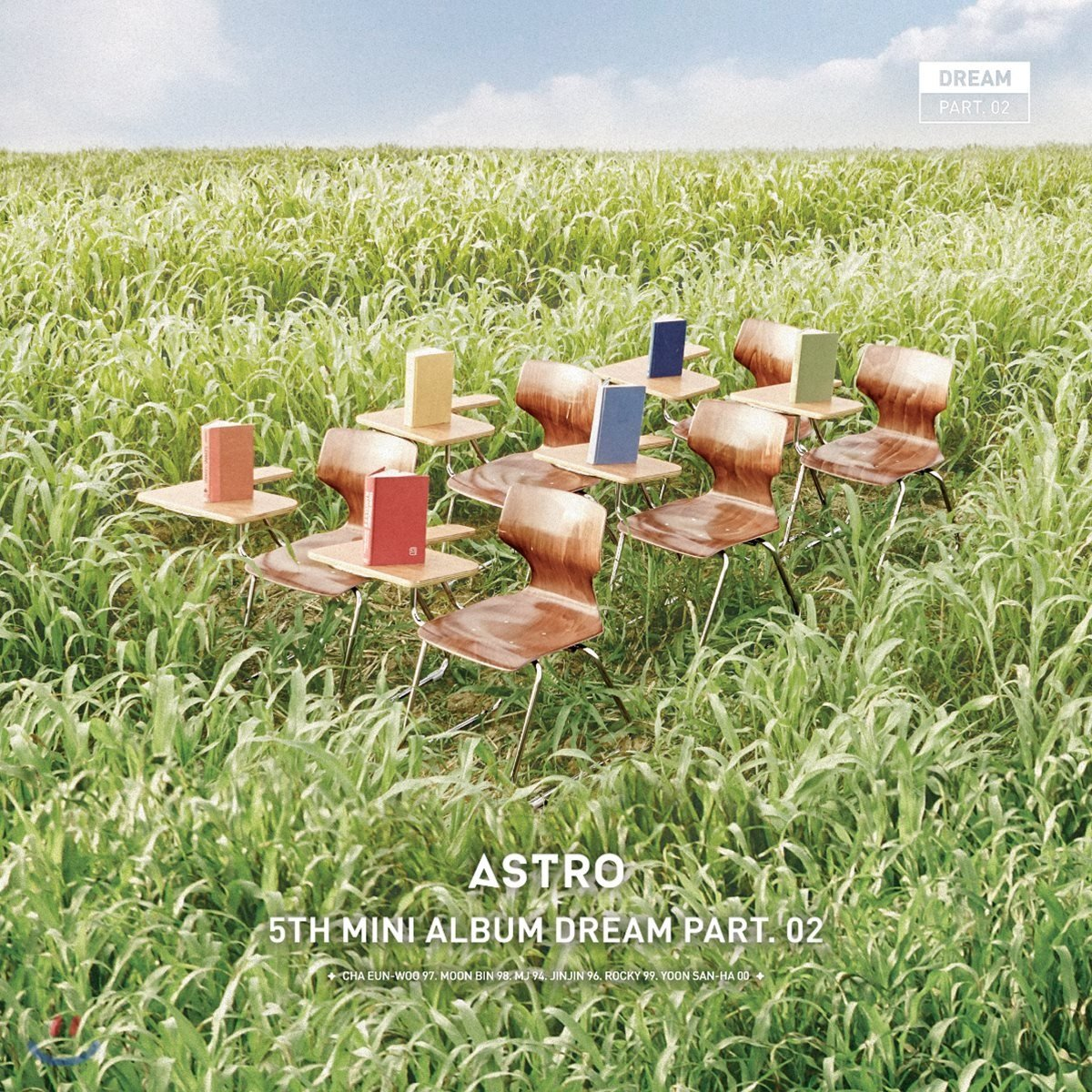 Astro 5th Mini Album DREAM Part.02 [Wind Ver] + Folded Poster + Booklet + Post Card + Photo Card + Polaroid Photo + Special Card