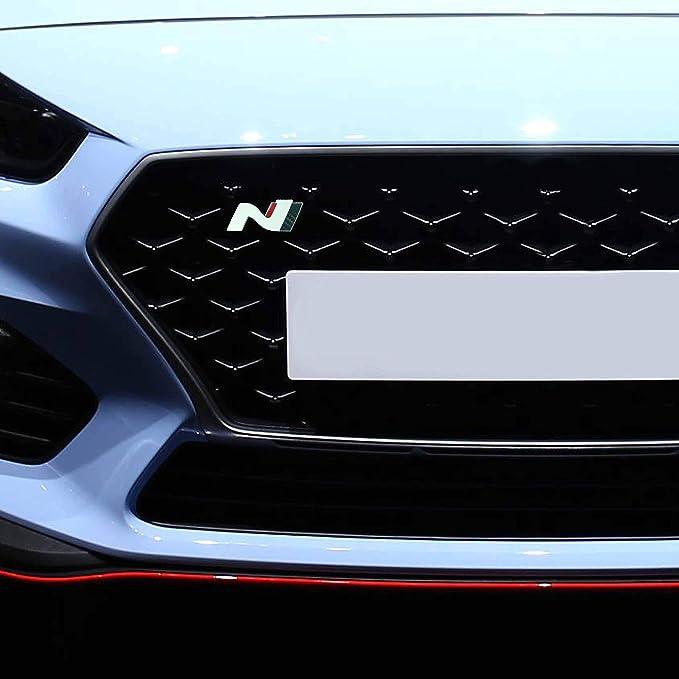 P043 Kühlergrill Emblem Cover N Performance Kühlergrill 2er Set Aufkleber 3m 2080 Car Wrapping Folie Car Styling Dekorset V6 Weiß Carbon Rot Auto