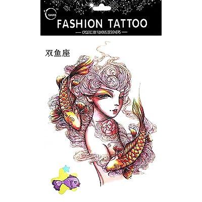 Les tatouages temporaires pour constellation différente Poissons de 12 constellation sur le 20 février ~ Mar 20 Les tatouages temporaires