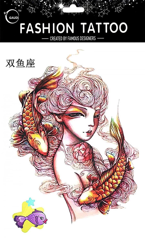 Tatuajes Temporales Para Diferentes constelación Piscis de 12 ...