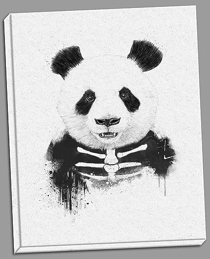Amazoncom Gango Home Décor Zombie Panda Black And White Panda