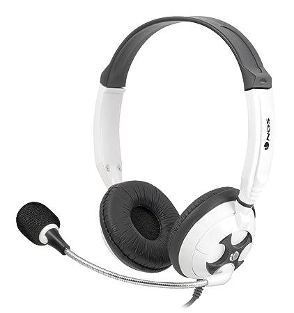 NGS White MSX7Pro Binaural Diadema Negro, Blanco auricular con micrófono - Auriculares con micrófono (