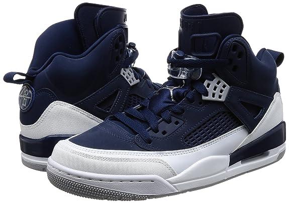 finest selection 63423 2328c Nike Chaussures Homme AIR Jordan Spizike - Midnight Navy en Cuir Bleu 315371 -406  Amazon.fr  Chaussures et Sacs