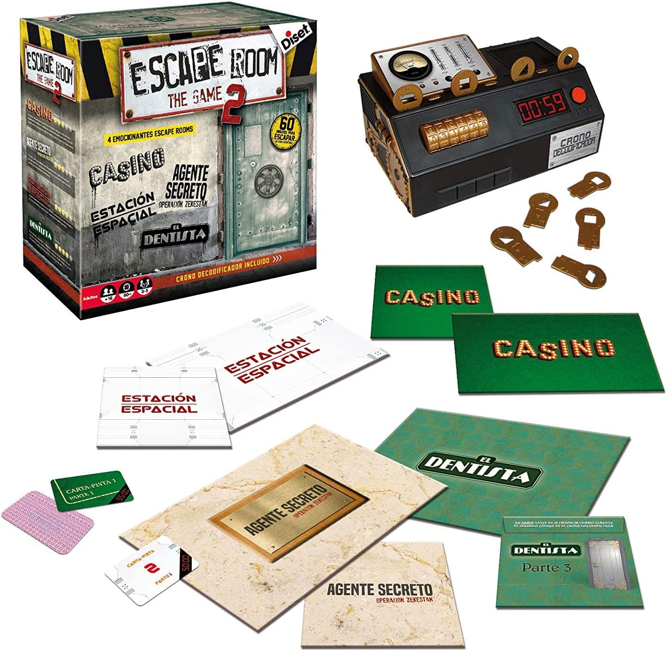 Outletdelocio. Juego de Mesa Escape Room V2 Original. Edicion ...
