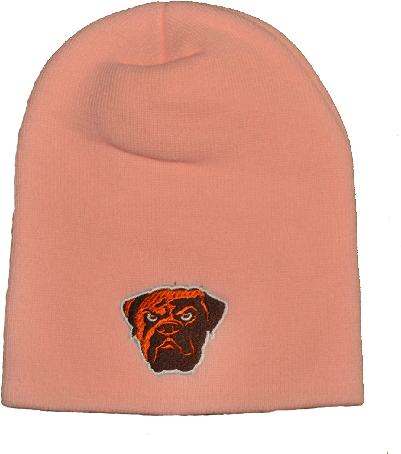 Reebok Pink Cuffless Beanie Hat NFL Ladies Football Knit Skull Cap