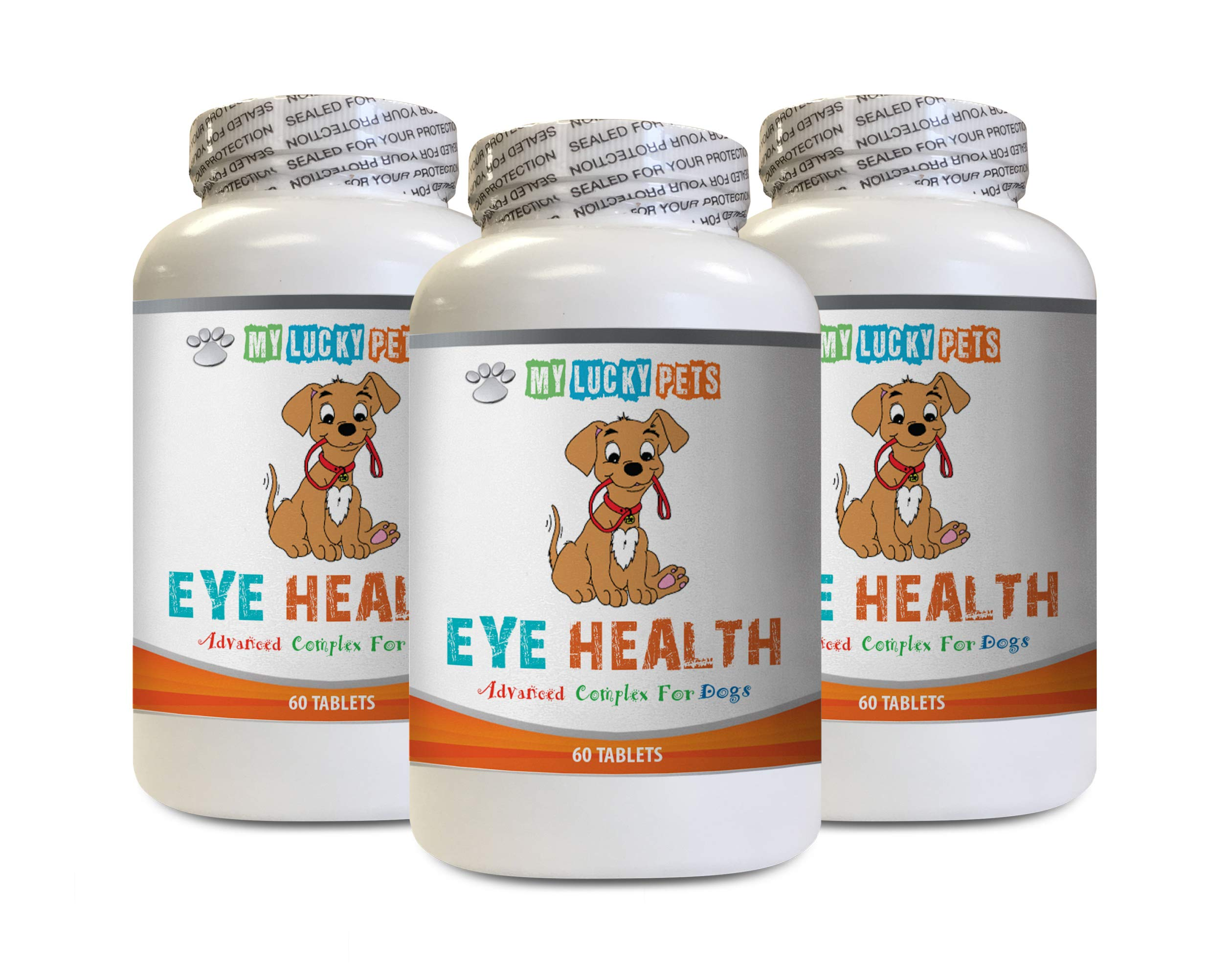 MY LUCKY PETS LLC Dog Eye Redness - Dog Eye Health - Advanced Formula - Benefits Vision - Immune Support - Vitamin e for Dogs - 3 Bottles (180 Treats) by MY LUCKY PETS LLC