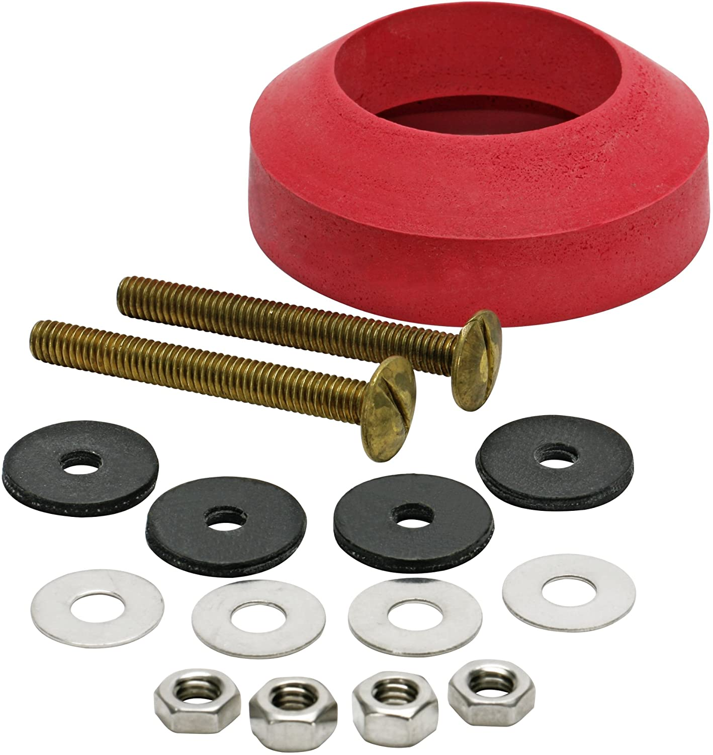Brass and Rubber Tank to Bowl Kit for Use with Universal Fit