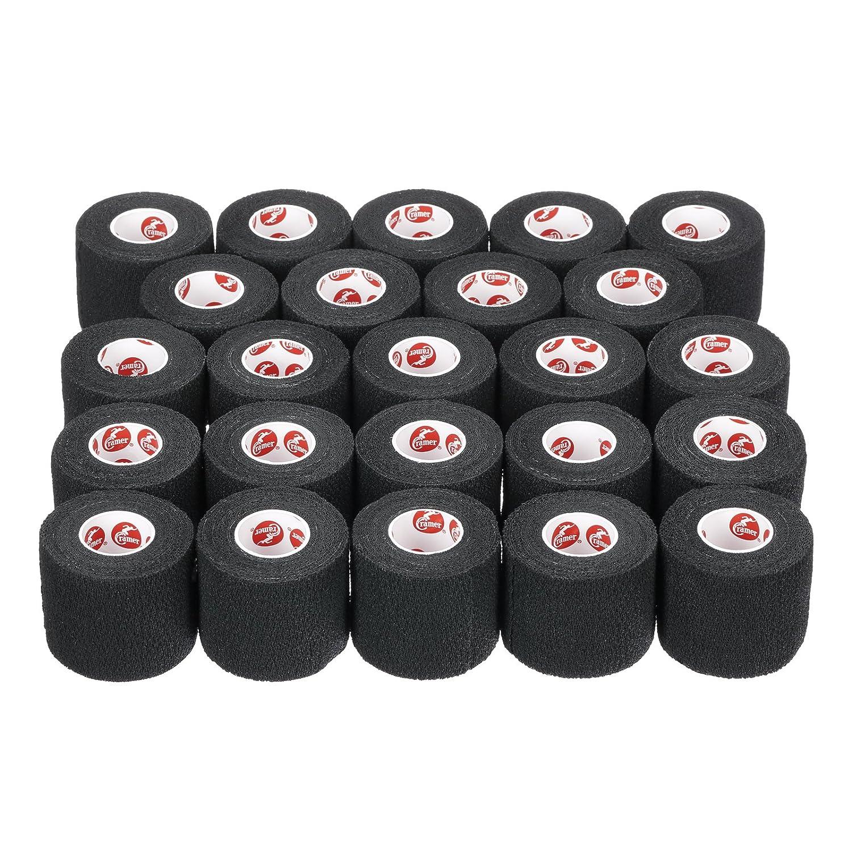 Cramer Produkte Athletisch Band 285115 Schwarz Eco-Flex Cohesive - 3 Zoll von 6 Yard - Case Of 16