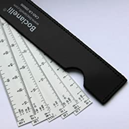 """15cm 6"""" Fan Shaped Plastic 5 Blade Scale Ruler 1:10 / 1:100, 1:15 / 150, 1:20 / 1:200, 1:25 / 1:250, 1:30 / 1:300, 1:33, 1:40 / 1:400, 1:50 / 1:500, 1:75 / 1:750, 1:125 / 1:1250"""