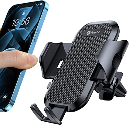Car Phone Holder,Air Vent Phone Holder,Compatible with iPhone 11//11 Pro//Xs//8//7//6 Galaxy S20//S10//S10+//S9//S9+//S8 Black Car Phone Mount
