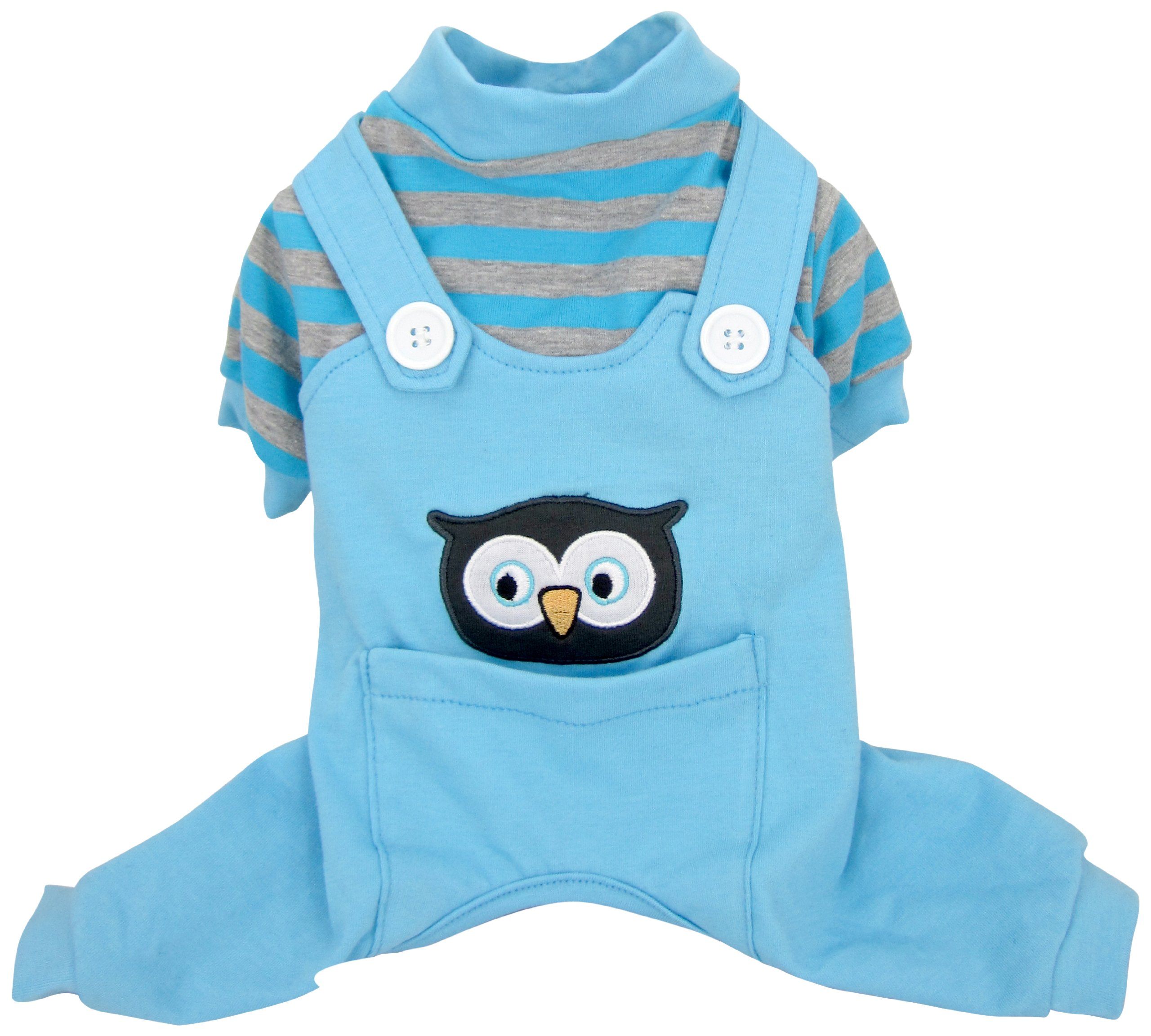 FouFou Dog Animal PJ, X-Large, Owl