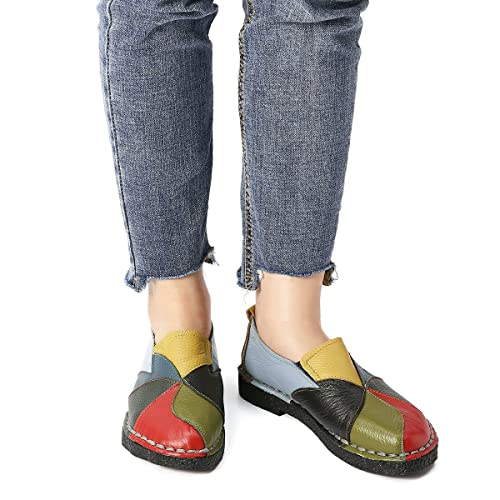 Espadrillas Slip Comode Da Shoes Donne Comfort Socofy Scarpe Loafers Casual On Guida Donna In Pompe Pelle Mocassini 81n0xZ