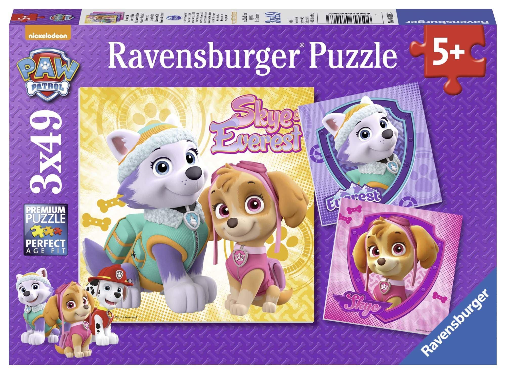 Ravensburger 8008 Paw Patrol Skye & Everest Jigsaw Puzzles - 3 x 49 Pieces