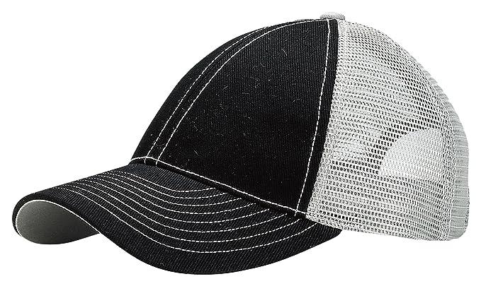 4632e8fa817 Amazon.com  MegaCap Mega Cap Women s Contrast Stitching Two Tone Trucker Cap