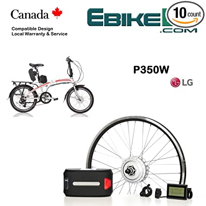 df9365167a4 Electric Folding Bike Conversion KIT for Dahon Tern Brompton Foldable  Bicycle 350/500W E Bike Complete Kit Front Hub Motor, Battery Li-Ion 25mph  LCD 16