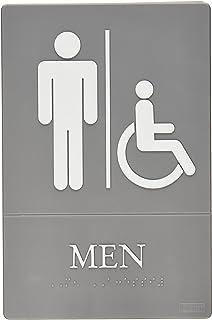 Quartet Men Bathroom Sign Handicap Accessible ADA Approved 6 X 9