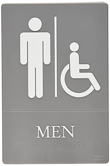 Quartet Men Bathroom Sign, Handicap Accessible, ADA Approved, 6u0026quot; X  9u0026quot;