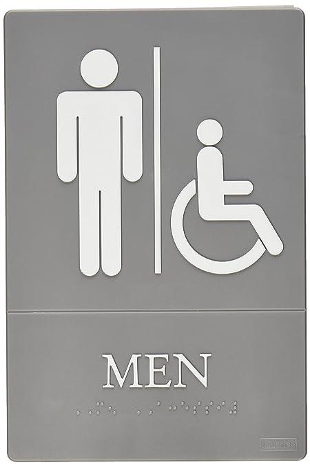 Amazoncom Quartet Men Bathroom Sign Handicap Accessible ADA - Mens bathroom sign