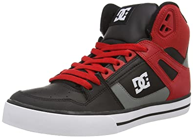 dc shoes high tops red and black. dc shoes spartan high wc, men\u0027s hi-top sneakers, black (red/ dc tops red and a